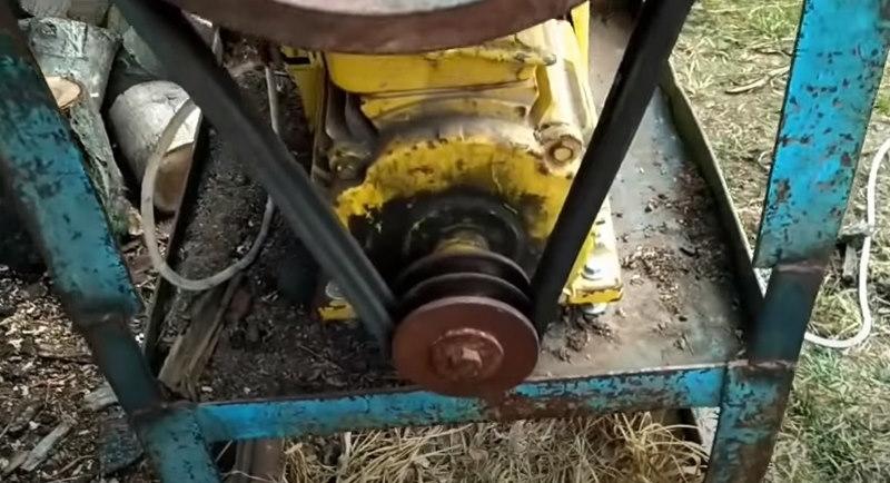 Шкив для двигателя дровокола