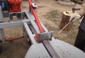Толкатель дровокола как сделать
