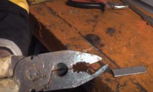Вырезать губки плоскогубцев